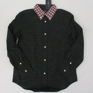 Ralph Lauren LS Tartan Plaid Holiday Dress Shirt